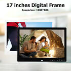 17-inch HD Digital Photo Frame Remote Control Clock Music Video Picture Player