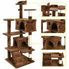 "53"" Cat Tree Tower Activity Center Playing House Condo Grey/Beige/Blue/Brown"