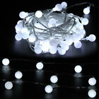LED Globe Bulb Ball Fairy String Lights Mains Plug In Garden Outdoor Indoor Xmas