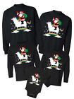 Unicorn Santa Funny Matching Family Sweaters Tumblr Merry Christmas Novelty Gift