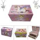 Girls Musical Jewellery Box, Ballerina Or Unicorn With Necklace. Great Gift Idea