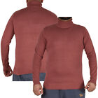Mens Brave Soul Jumper Funnel Roll Neck Polo Cotton Knitwear Jersey Sweater Top