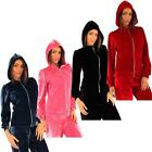 Womens Velour Hoodie Full Zip Crushed Velvet Loungewear Casual Long Sleeve Tops