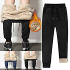 New Men's Athletic Pants Fleece Lined Thick Trousers Loose Warm Pants For Winter