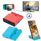 TV Switch HDMI Converter Charging Dock Station Stand For Nintendo Switch / Lite