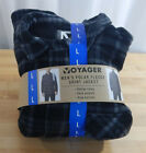 Men's Voyager Sherpa Lined Snap-up Flannel Shirt/Jacket w/Pockets