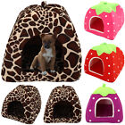 Pet House Cave Fleece Padded Bedding Dog Puppy Warm Bed Igloo Washable
