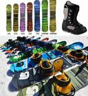 Burton 157-164CM Snowboard Package Big Boots sizes 10-16 Custom Carbon Cruzer