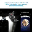 Hands-free Car Kit Bluetooth FM Transmitter Music Player Charger Adapter LCD
