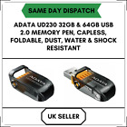 32GB/64GB ADATA UD230 USB Capless, Foldable,Water  Shock Resistant Memory stick