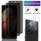 For Samsung Galaxy S21/Plus/Ultra Privacy Tempered Glass/Camera Screen Protector
