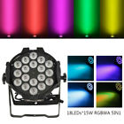 1-8PCS 300W Stage PAR Light RGBWA DMX512 18LED Strobe Effect Party Washer Lamp