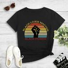 Black Lives Matter Fist BLM I Can't Breathe T-Shirt Slim Fit Equality Tee Shirt