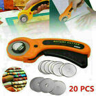 45mm Rotary Cutter Quilters Quilting Sewing Fabric Cutting Craft Tool w/ Blades