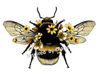 Furniture & Wall Sticker /clear Stickers /cut & Stick / Vintage Bumble Bee 733
