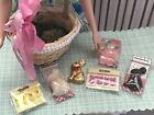 Miniature Easter Basket Gift W/CANDY  EGGS 1:6 Scale Barbie Doll Collectible