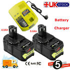 18V 5.0AH For Ryobi One+ Plus P100 Lithium Battery RB18L50 P102 P108 &Charger