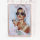 Unique  Audrey Hepburn style (girls night in) Print Wall Art Picture. Free P&P..