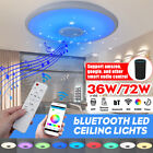 72W bluetooth Speaker LED Music Starry Sky Ceiling Lamp Remote Control RGB Ligh