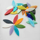 Colorful Leaf Stained Glass Mosaic Tiles For Crafts Handcraft Supplies Art 14pcs