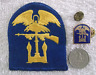 WWII U.S. Army Amphibous Forces Patch And D.U.I. Metal Collar Insignia.