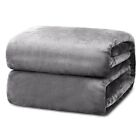 Super Soft Flannel Fleece Blanket Reversible Plush Microfiber Couch Sofa & Bed