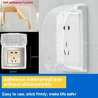 Waterproof Wall Socket Plate Switch Box Cover Protector Child Proof Safety Plugs