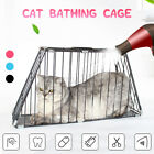 Pet Cat Dog Puppy Bath Grooming Bag Shower Metal Cage Trapezoid Kennel Ten