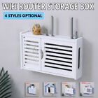Wifi Storage Box Router Cable Power Plug Wire Holder Wall Mount Shelf Organizier
