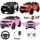 12V Kids Electric Bluetooth Ride On Car with Remote Control Fire Fighter Gift