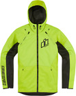 Icon Airform Hooded Motorcycle Jacket HI VIS YELLOW GREEN