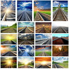 Railway Scenery Background Cloth Photography Backdrop Props