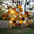 Bee Honeycomb Charm Suncatcher Hanging Ornaments Window Home Garden Decoration