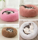 Lots Pet Cat Calming Bed Warm Soft Plush Round Nest Comfy Sleeping Dog Kennel