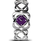 Seksy Women's Quartz Watch with Purple Dial Analogue Display and Silver Steel