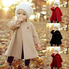 Toddler Baby Girls Winter Trench Coats Jacket Kids Outerwear Clothes Overcoat