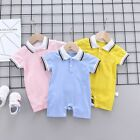 Newborn Baby Boys Girls Bodysuit Toddlers Infant Romper Leisurre Clothes Suits