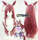 Anime Game Pretty Derby Mihono Bourbon Cosplay Prop Hair Wig Dark Red Cos Sa ZY