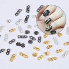 Nail Art Decoration Gold Silver Black 3D Thick Chain Nail Stickers Manicure
