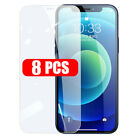 8Pcs Tempered Glass Screen Protector for iPhone 13 12 mini 11 Pro X XS Max XR 8