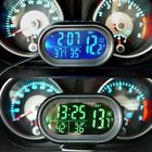 Digital Car LCD Clock Voltmeter Thermometer Battery Voltage Temprerature Monitor