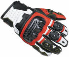 Cortech Apex ST Men's Leather Short Motorcycle Glove RED WHITE