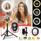 """8.66"""" Dimmable Ring Light Phone Camera bluetooth Selfie Makeup Live w/ Stand"""