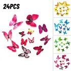 24pcs 3d Butterfly Wall Stickers Home Decoration Decal Gilrs Bedroom Decor