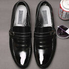 Embio Black Leather Mens Dress Loafers Shoes All Size