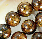 8mm Natural Bronzite Round Beads 15.5""
