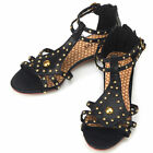New Black Gladiator Casual Flats Womens Sandals Shoes