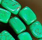6x9mm Green Turquoise Cuboid Beads 15.5""