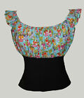 Mexican sugar skull gypsy top rockabilly pin-up 8-18