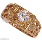 1.3 ct Simulated Diamond 18kt Gold EP Mens Ring
